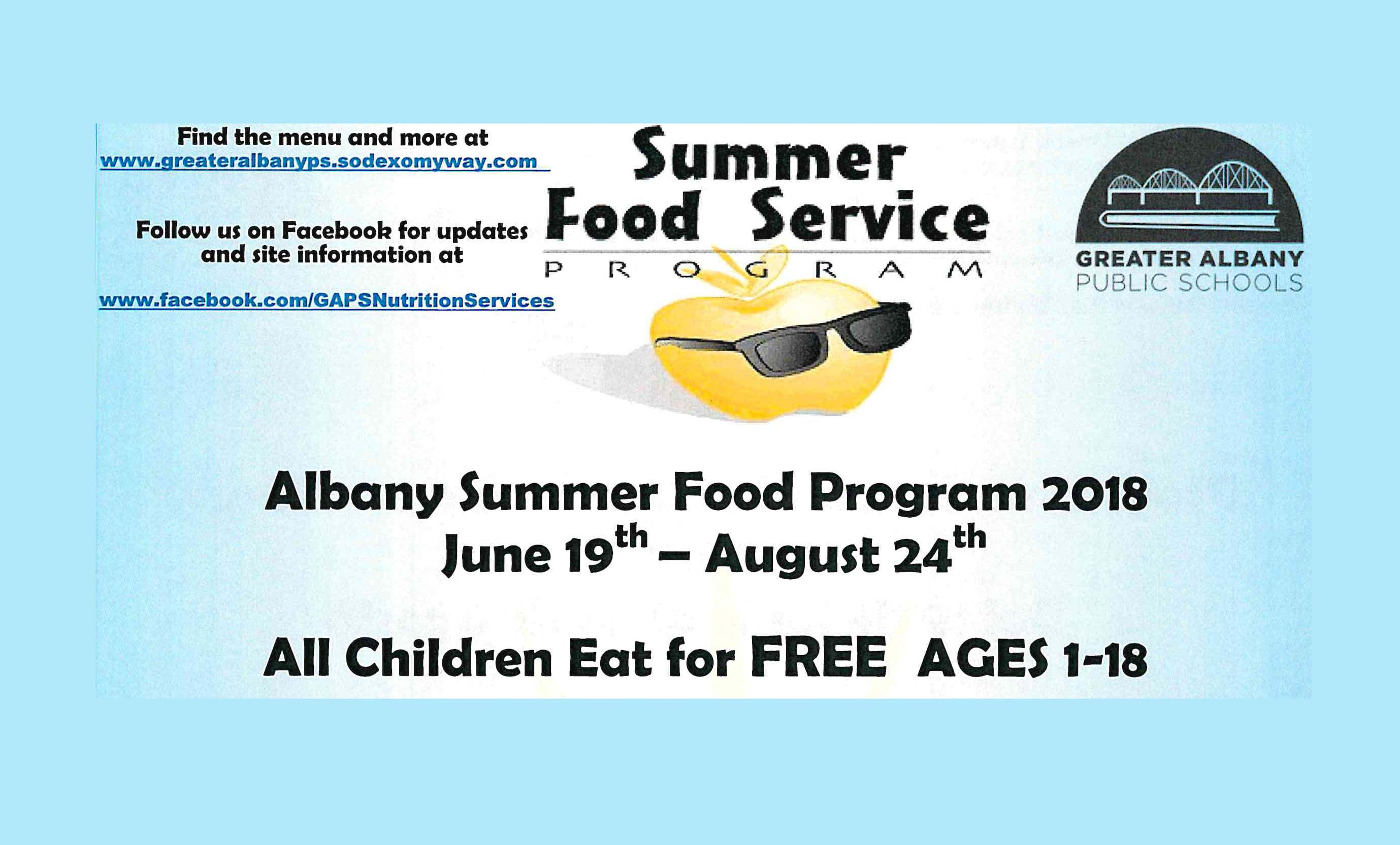 Summer food program offers free meals to children through Aug. 24