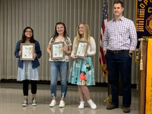 Calapooia Optimist Club award winners