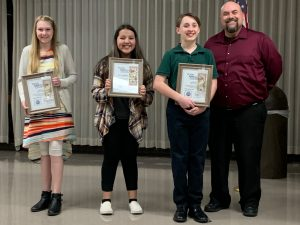 Memorial Optimist Club award winners