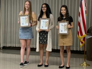 Timber Ridge Optimist Club award winners